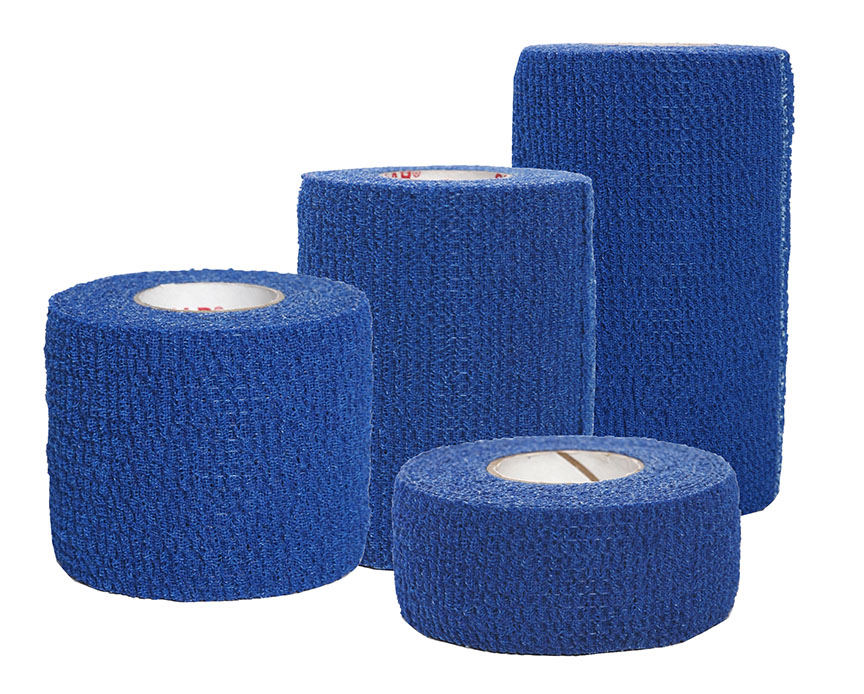 Group Image - Certi-Rip Elastic Cohesive Bandage Blue - 1-2-3-4