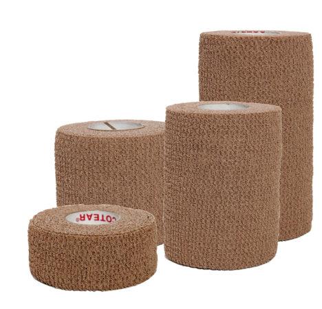 Group Image – Certi-Rip Elastic Cohesive Bandage TAN – 1-2-3-4