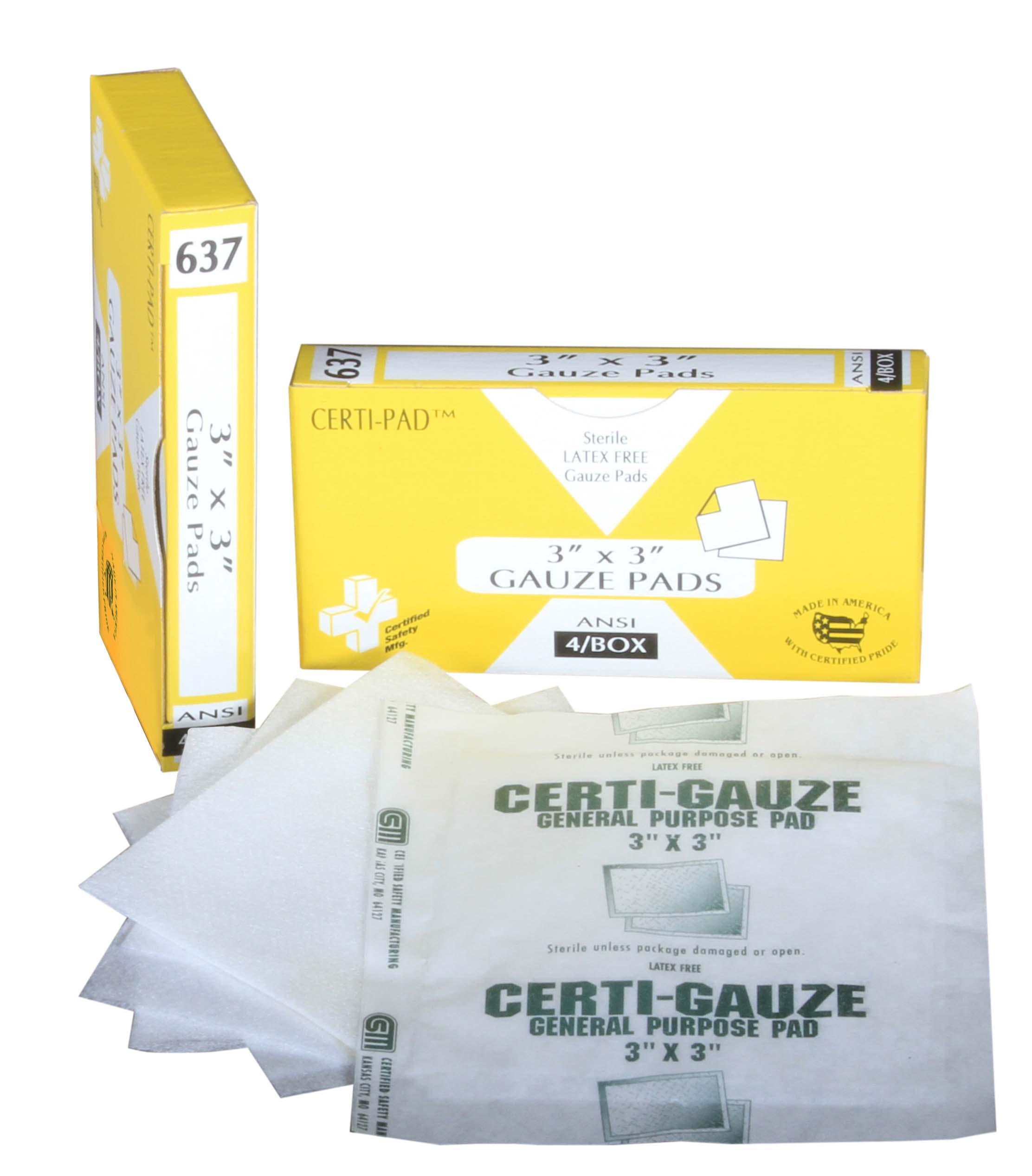 R211-011 --- 637 - Certi-Gauze Pads - 3x3