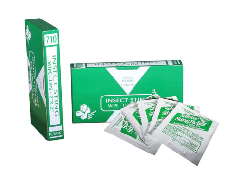 R213-014 – 710 – Insect Sting Wipe Ups – 10Unit