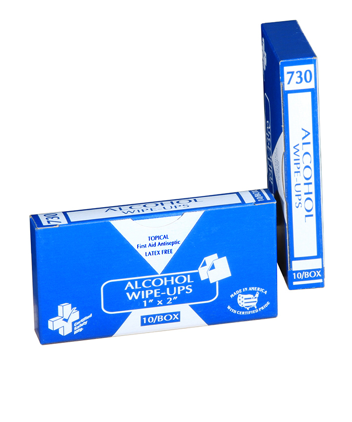 R213-040 - 730-Alcohol Wipe-Ups - 1x2 - 10Box