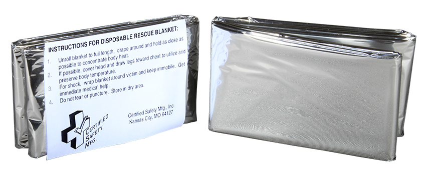 R216-036 --- Rescue Blanket - Silver - Disposable - 52 x 84 - 1 over wrap - web