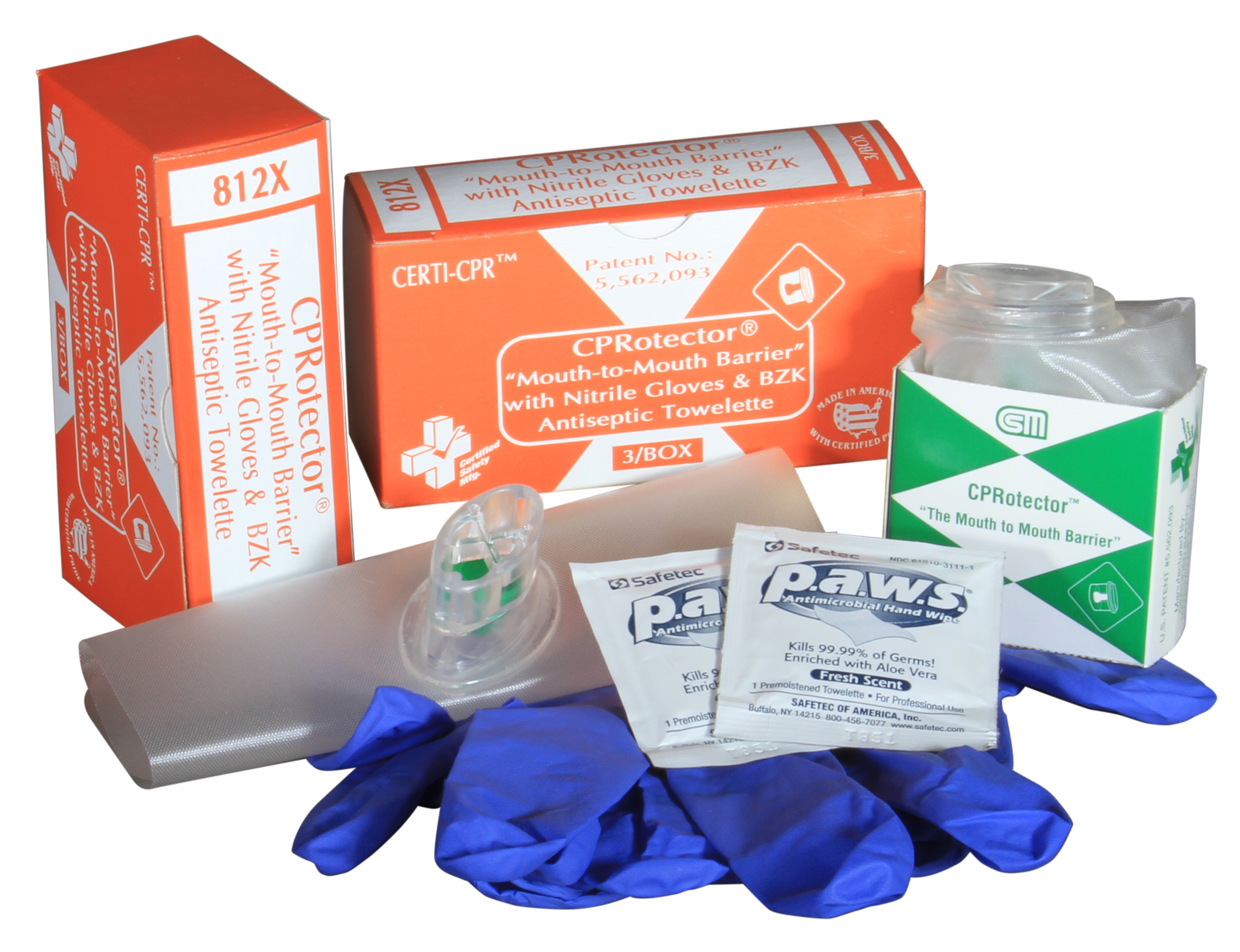 R216-072 --- 812X - CPRotector - wNitrile Gloves Towelette - 3unit