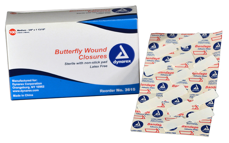 R504-010 - Butterfly Bandage - Medium - 100 box - web